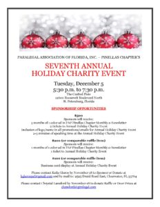 PAF 2017 Holiday Event Sponsorship Opportunities